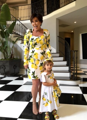 kris jenner lemon print dolce and gabbana - Google Search.clipular