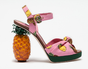 Women's sandals, flat and heels - Dolce&Gabbana - PRINTED CADY SANDALS WITH SCULPTURE HEEL.clipular